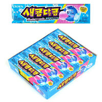 Korean CROWN Sweet and Sour Chewy Candy Snack Food Blueberry Soda 29gX15Packs