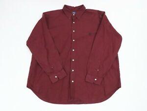 Ralph Lauren Men Classic Fit Long Sleeve Dress Shirt 2X Big Red