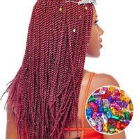 100pcs Hair Braid Ring Beads Dreadlocks Cuff For Hair Extension Jewelry Decor