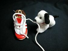 """World of Miniature Bears 1.25""""x2"""" Plush Puppies Yummy Shoes #1026 Collectibles"""