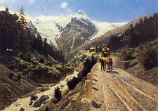 AK: Österreichische Alpenpost auf der Stilfser-Joch-Strasse mit Briefmarken + Ta