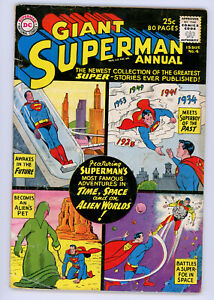 JERRY WEIST ESTATE: SUPERMAN ANNUAL #4 (DC 1961) VG condition NR