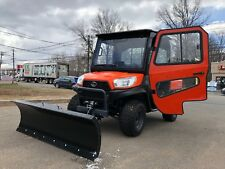 Heated Cab Kubota Rtv 900 4X4,Irs Suspension With Brand New Plow,Winch,Defroste