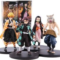 "Demon Slayer Tanjirou Nezuko Zenitsu Inosuke 5.5"" Action PVC Figure Toy Box Gift"