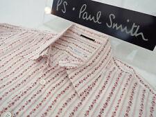 """PAUL SMITH Mens MAINLINE Shirt 🌍 Size L (CHEST 46"""") 🌎RRP £195+📮 FLORAL STRIPE"""
