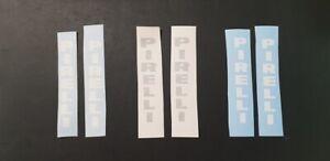 Pirelli vertical fork vinyl sticker / decal pair to suit motorbikes