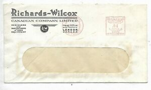 1946 London, Ontario 4 cents Meter on a Richards-Wilcox Company Limited adv cvr