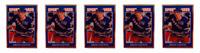 (5) 1992 Sports Cards #61 Brian Leetch Hockey Card Lot New York Rangers