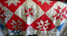 LOT Full Queen Hand Quilted Bedspread 2 Decor Pillows