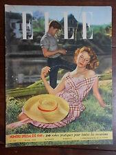 ►ELLE 183/1949 - SPECIAL ETE 1949 - MODE FASHION VINTAGE