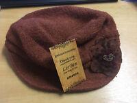Fashion Women Ladies Vintage Elegant Knitted Winter Warm Cloche Flower