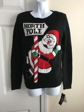 Santa North Pole Christmas Sweater by Ransom Women's Christmas Size S NEW