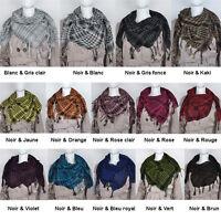 Keffieh a carreaux écharpe/foulard pour hommes et femmes 100*100 cm