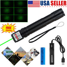 1000 Miles Green Laser Pointer Star Beam Rechargeable Lazer+Battery+Charger