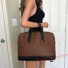 Coach F27617 Men's Leather Hamilton Briefcase Crossbody Laptop Bag Saddle