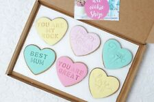 Personalised Biscuits, Love Heart Cookie, Edible Gift, Heart Shaped Cookies