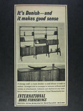 1962 Danish Storage Wall International Home Furnishings vintage print Ad