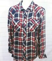 Rails M Shirt Women Medium Plaid Flannel Button Down Top Lined Western