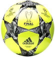 adidas Performance Finale Berlin Capitano Soccer Ball - Size 5 (Solar Yellow)