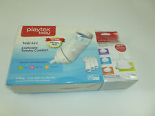 Playtex VentAire Complete Tummy Comfort 3- 9oz Bottles + 4 Nipple Variety Pack