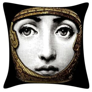 Fornasetti Big Eye Lady Face Sofa Cushion Cover Colorful Pillow Case Home Décor