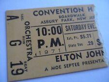 ELTON JOHN Original__1971__CONCERT TICKET STUB - Asbury Park, NJ