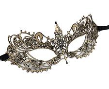 Masque loup en dentelle dorée, accessoires sexy, déguisement, soirée coquine