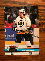 1991 Topps Stadium Club #233 Ray Bourque Hockey Card Boston Bruins Raw