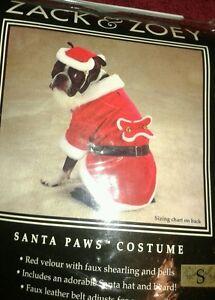 Zack & Zoey Holiday Santa Paws Dog Pet Costume Christmas  Sz Small