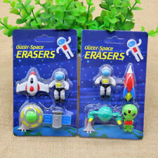 Funny Cute Cartoon Rubber Pencil Eraser Set For Children Stationery/Gift/Toy