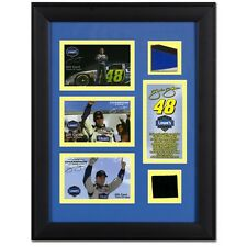 4 Jimmie Johnson Race Used Tire & Sheet Metal Framed Need Fixing.
