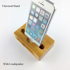 Bamboo Wood Charge Station Charging Dock Phone Stand Holder For iPhone Android