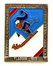 Brosche Flassin 1978 - Trophäe E.Castiglion Clique Der Rohr Ski Schlitten Skill