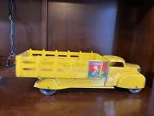 TERRIFIC  Marx Coca Cola Stake Bed Delivery truck-YELLOW 1940S.  10300