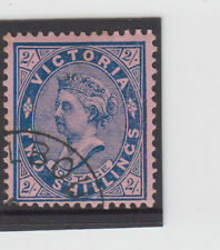 Stamp 2/- blue on red sideface Victoria cancelled to order, MUH toned gum