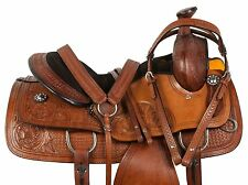 15 16 WESTERN ROPING ROPER COWBOY RANCH HORSE PLEASURE TRAIL LEATHER SADDLE TACK