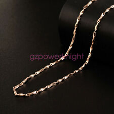 """18k Gold  Plated Real 925 Stamped Sterling Silver Chain Italian Necklace 16-24"""""""