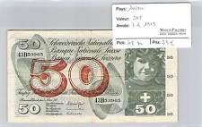 BILLET SUISSE - 50 FRANCS 7-3-1973**