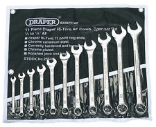 Draper Imperial Combination Spanner Set AF Sizes Open Ended/Ring HI-TORQ®