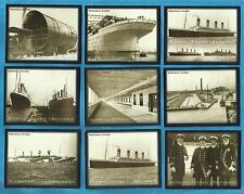 cigarette/trade cards - OLYMPIC - TITANIC - BRITANNIC - Mint condition full set