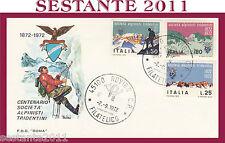 ITALIA FDC ROMA 1972 SOCIETA' ALPINISTI TRIDENTINI ANNULLO ROVIGO H89