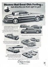 1979 Oldsmobile Toronado Delta 88 2-page Vintage Car Advertisement Ad J28