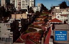 San Fransico California vintage postcard 1960 the crookedest street Grünanlagen