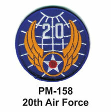 "3"" 20TH AIR FORCE Embroidered Military Patch"