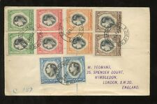 SOUTH WEST AFRICA 1937 REGISTERED SWAKOPMUND CORONATION FDC