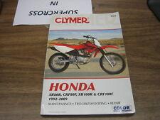 Honda Motorcycle Dirtbike 1992-2009 XR80 CRF80 XR100 CRF100 Cylmer manual