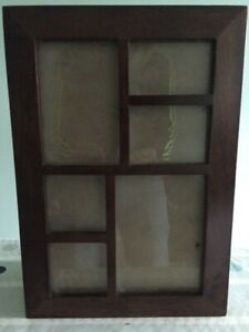 Photography Photo Dark Wooden Picture Frame Window Cabinet Multiply Holders