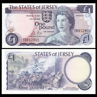 Jersey 1 Pound, ND(1976-88), P-11, Banknotes, UNC