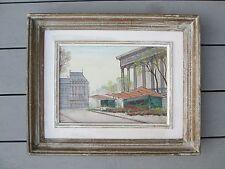 Paul Lambert  Painting French Paris Original Oil On Canvas Mid Century Modern