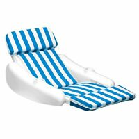 Swimline 10010 SunChaser Swimming Pool Padded Floating Luxury Lounge Chair, Blue
